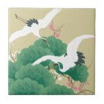 red-crowned crane セラミックタイル