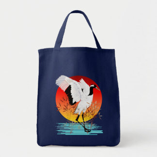 Red Crowned Crane and Setting Sun Bags