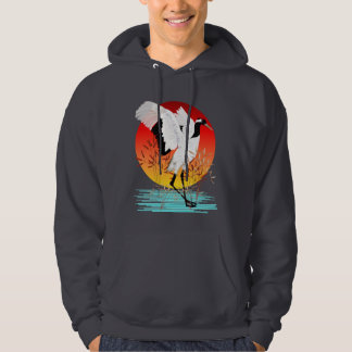 Red Crowned Crane and Setting Sun Shirt