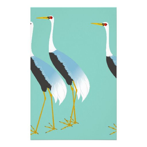 red-crowned crane personalized stationery