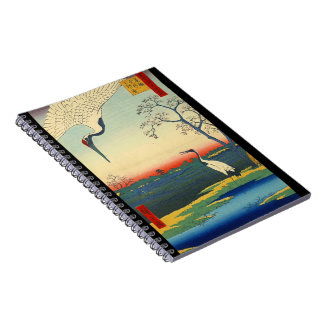 Red Crowned Cranes 1857 Notebook