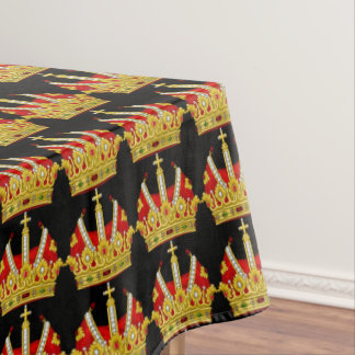 Red Crowns Tablecloth