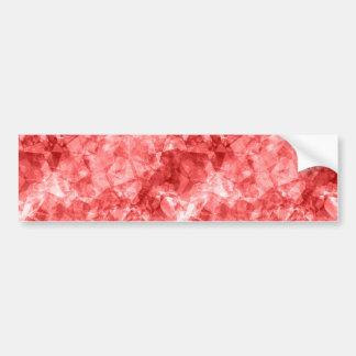 Red Crumpled Texture Bumper Sticker