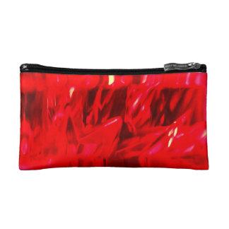 Red Crystal Small Cosmetic Bag Makeup Bag