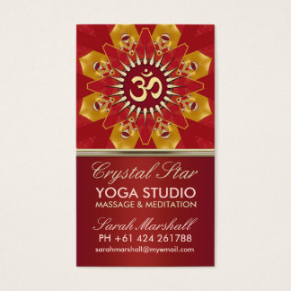 Red Crystal Star Yoga Studio Business Card