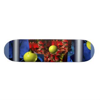 red cubes custom skateboard