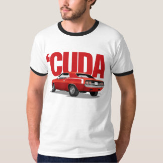 Red 'Cuda Rear with Text T-Shirt