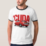 Red 'Cuda Rear with Text T Shirts