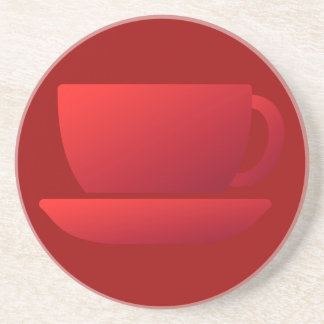 Red Cup and Saucer Coaster