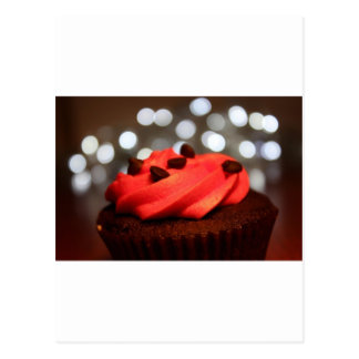 Red Cupcake Delight Postcard