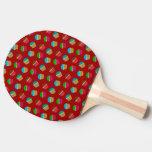 Red cupcake pattern Ping-Pong paddle