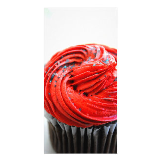 Red Cupcake Photograph Photo Cards