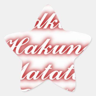 Red Cupcakes Vodka  Hakuna Matata FUNNY. Star Sticker