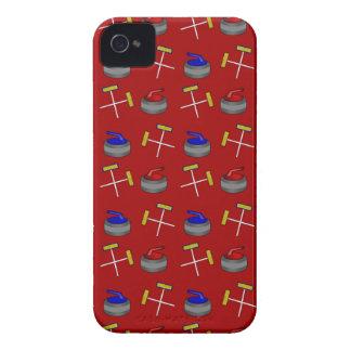red curling pattern Case-Mate iPhone 4 case