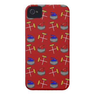 red curling pattern Case-Mate iPhone 4 cases