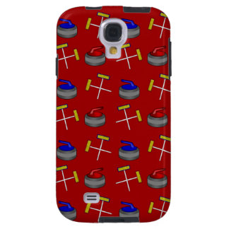 red curling pattern galaxy s4 case