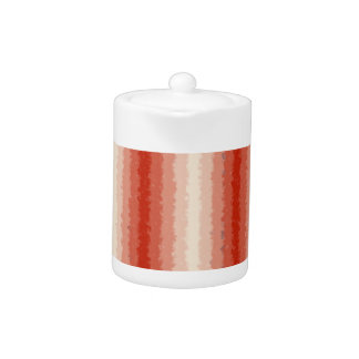 Red Curly Stripes Teapot