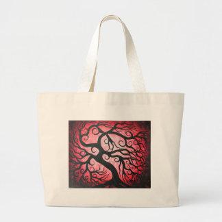 Red curly tree-Bag Jumbo Tote Bag