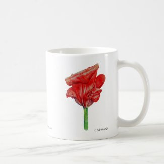 Red Curly Tulip Mug