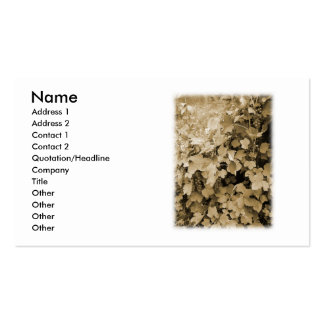 Red Currant Plants. Sepia Brown Color. Double-Sided Standard Business Cards (Pack Of 100)