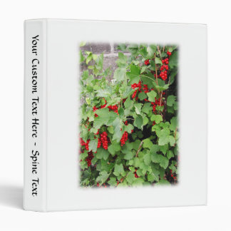 Red Currants on the Plant. Green Leaves. Binder