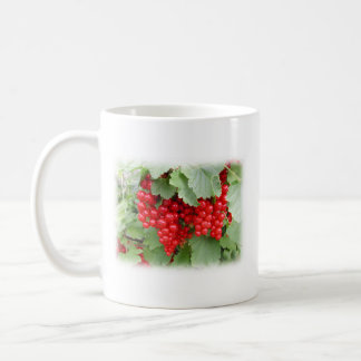 Red Currants on the Plant. Green Leaves. Classic White Coffee Mug