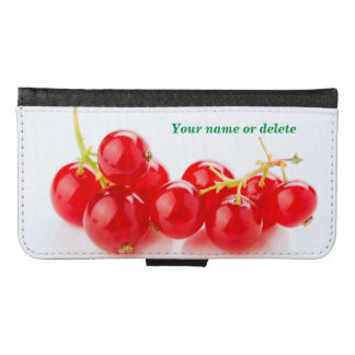 Red currants wallet phone case for samsung galaxy s6