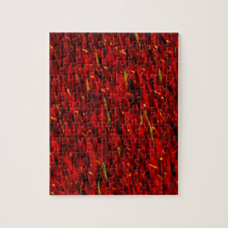Red Curtain Abstract Jigsaw Puzzle