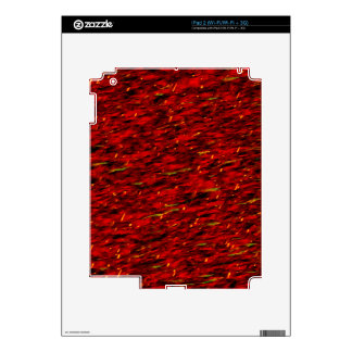 Red Curtain Abstract Skins For iPad 2