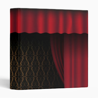 Red Curtain 3 Ring Binder