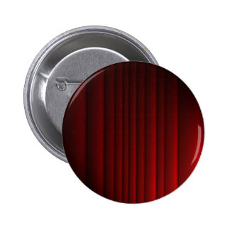 Red Curtain Pinback Buttons