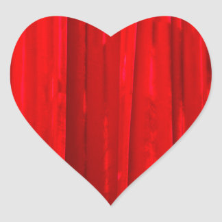 Red Curtain Heart Sticker
