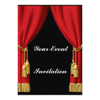 Red Curtain Invitation