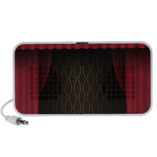 Red Curtain Portable Speaker