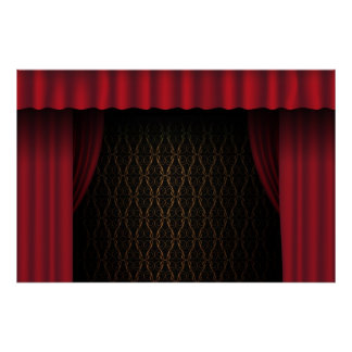 Red Curtain Print