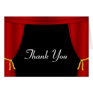Red Curtain Thank You Greeting Card