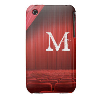 Red Curtain Theater Monogram IPHONE 3 Cell Case iPhone 3 Covers