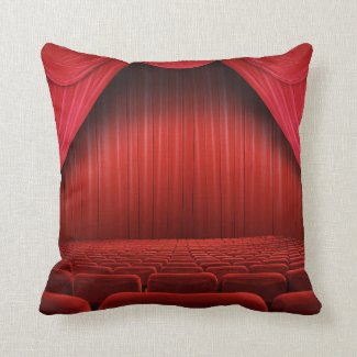 Red Curtain Theater Throw Couch Pillow