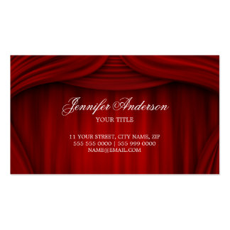 Red Curtains business card