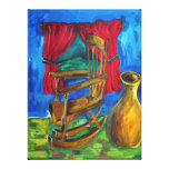 Red Curtains Canvas Prints