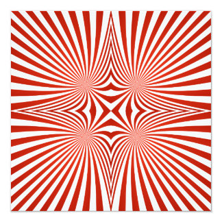 Red curved line pattern card