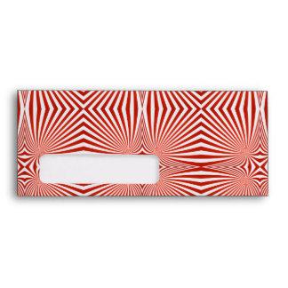 Red curved line pattern envelopes