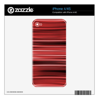 Red curved stripes iPhone 4 decal