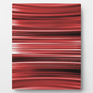Red curved stripes plaque