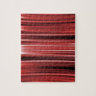 Red curved stripes jigsaw puzzle