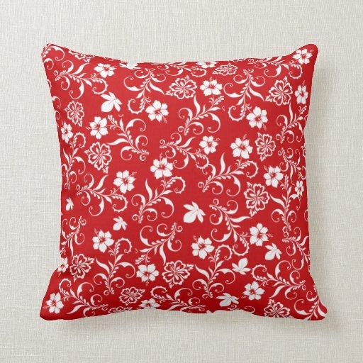 red cushion Indian Ocean Throw Pillows