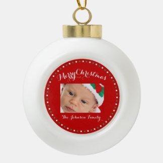 Red Custom Christmas Ball Ornaments