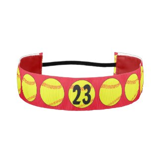 Red Custom Fastpitch Softball Headband