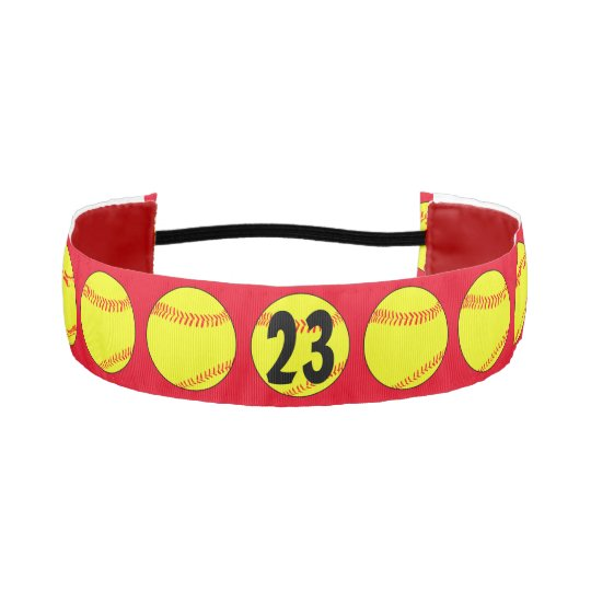 Red Custom Fastpitch Softball Headband  c0247cc680d