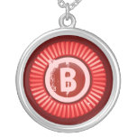 Red Custom Letter necklace